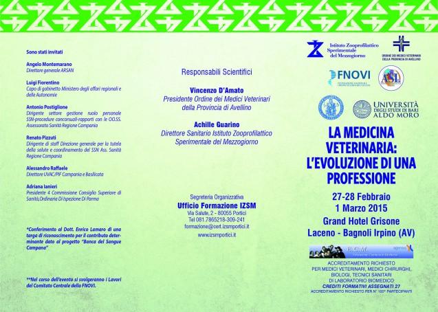 """Convegno 27 Febbraio 2015: """"La medicina veterinaria, l'evoluzione di una professione"""""""